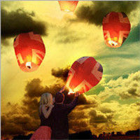 Union Jack Sky Lanterns - buy at Firebox.com