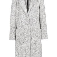 Longline Wool Duster Coat - Grey