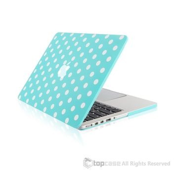 """Hot Blue Polka Dot Design Ultra Slim Light Weight Hard Case Cover for Apple MacBook Pro 13.3"""" with Retina Display Model: A1425 and A1502"""