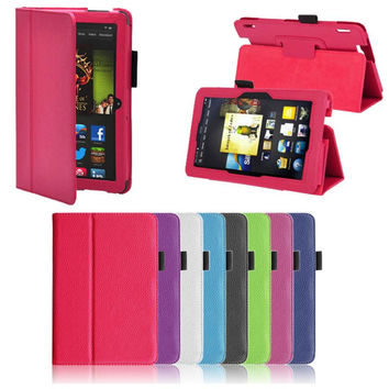 PU Leather Folio Stand Cover Case For Amazon Kindle Fire HDX 7 Inch DEC19