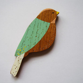 Wooden Wall Bird  little bird by AnnaWiscombe on Etsy