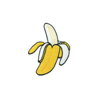 Banana  Embroidered Iron On Patch/ Applique