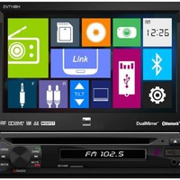 Dual DV714BH In-Dash Single DIN DVD/MP3/USB Car Stereo Receiver w/ Built-In Bluetooth and DualMirror Technology