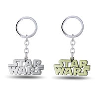 Julie Star Wars Letters Keychain 2 Color Anime Movie Jewelry Alloy Keyring For Women Men Boy Girl Key Chain Holder Chaveiro