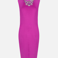 Embellished bodycon dress - Pale Purple | Dresses | Ted Baker UK