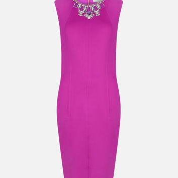 Embellished bodycon dress - Pale Purple | Dresses | Ted Baker ROW