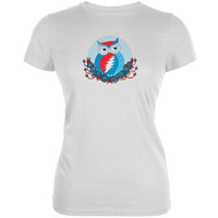 Grateful Dead - Steal Your Face Owl White Girls Youth T-Shirt