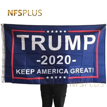 2020 Donald Trump Flag USA US 3x5 Feet Keep America Great Printed 90x150cm Polyester Decorative American Flag and Banner