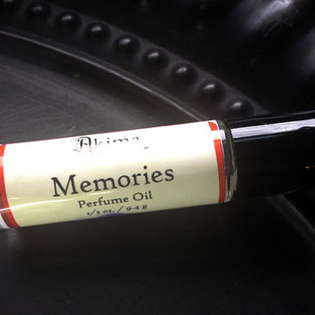 MEMORIES Premium Artisan Perfume Oil ~ nag champa, sage, oats, honey ~ Free from alcohol, parabens, preservatives ~ gift or travel