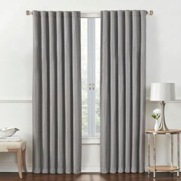 Rockwell Room-Darkening Window Curtain Panel and Valance