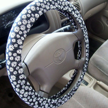 Flower Power Steering Wheel Cover