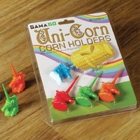 Gama-Go Unicorn Corn Holders, Set of 4