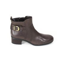 Brown Leather Ankle Boots Bandolino Booties Flat boots Size 8.5