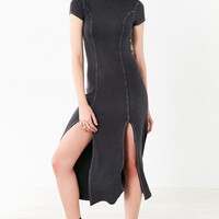 Silence   Noise Cynthia Thigh-Slit Knit Midi Dress