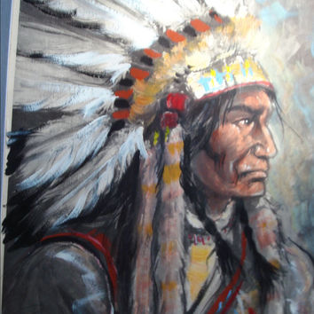 Rick Wisecarver Signed Indian Chief Print