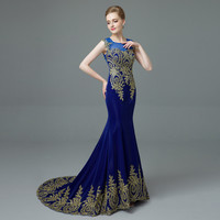 Long Royal blue Gowns