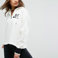 Nike Archive Half Zip Hoody In Cream at asos.com