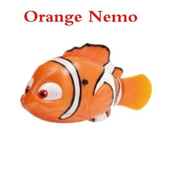 Robot Small Dory Nemo Fish Tail Swimming Dolls Colorful Wig Mermaid Robofish Child Electronic Pet Toys For Children XD200