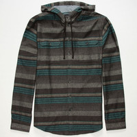 Billabong Latitude Mens Hooded Flannel Shirt Heather Black  In Sizes