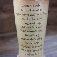 Shakespeare mug - Double, double, boil and trouble...