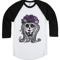 Flower Skull-Unisex White/Black T-Shirt