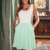 Side By Side Dress, Mint