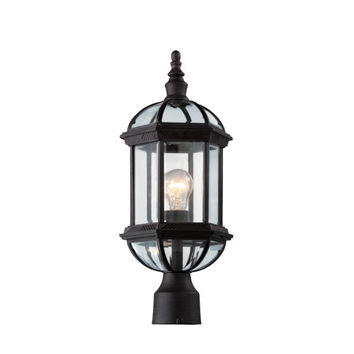 Trans Globe Lighting 4186VG Botanica 19 3/4 Inch Outdoor Post Top Lantern -Verde Green - (In VG-Verde Green)