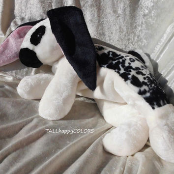 English SPOT RABBIT black and white BUNNY Lop stuffed animal Checkered Giant Rabbit Papillion Bunny floppy soft toy Luxury Bunny Handmade