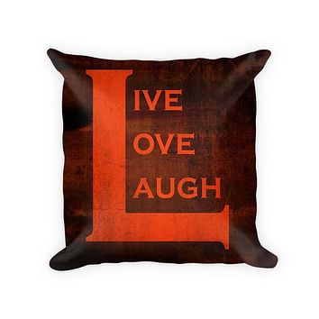Live Love Laugh II Woven Cotton Throw Pillow