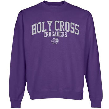 Holy Cross Crusaders Team Arch Sweatshirt - Purple