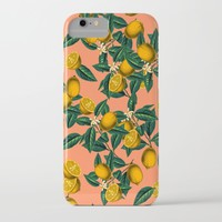 Lemon and Leaf iPhone & iPod Case by Burcu Korkmazyurek