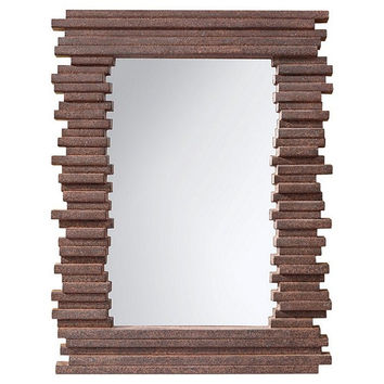Murray Feiss Stacked Gray Rock Mirror - MR1170GR