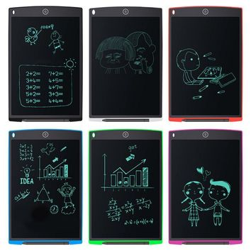 12 Inch LCD Digital Tablet Graffiti Board Handwriting Pad With Stylus Pen for Draw Note Memo Writing Drawing 6 Colors