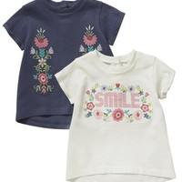 F&F 2 Pack of Smile T-Shirts