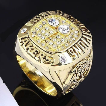 2001 Basketball Los Angeles Lakers Kobe Bryant Championship Ring Replica Souvenir US SIze 10 BC2914