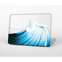 """The Black and Blue Highlighted HD Wave Skin Set for the Apple MacBook Pro 15"""" with Retina Display"""