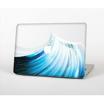 "The Black and Blue Highlighted HD Wave Skin Set for the Apple MacBook Pro 15"" with Retina Display"