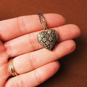 Forget Me Not - Tiny Heart Locket Necklace