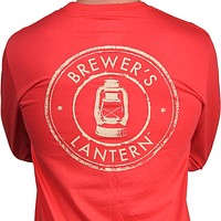 Original Long Sleeve Logo Tee in Washed Red by Brewer's Lantern