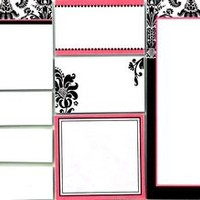Damask Sticky Note Set