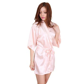 Women's Nightgown Satin Robes