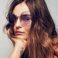 Free People Cool Cat Wire Frame Sunnies