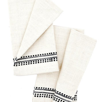 Stitched Slub Napkin Set