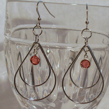 Silver Double Teardrop Dangles by DesignsByDeb18 on Etsy