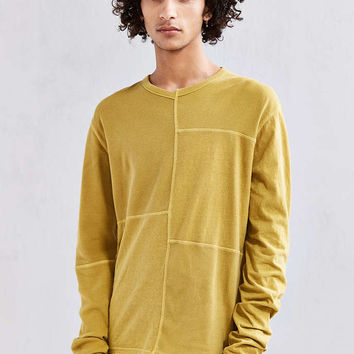 UO Anson Thermal Blocked Long Sleeve Tee - Urban Outfitters