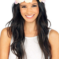 Sunny Full Flower Headband $30