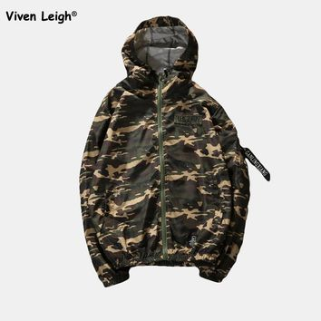Army Camouflage Men Jackets Sun Protection Hooded Coats Thin Windbreaker Clothing Camo Suprem Jacket