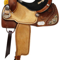 Saddles Tack Horse Supplies - ChickSaddlery.com Double T Barrel Saddle With Alligator Cut-Out Cross