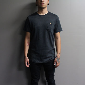 Woods Button Pocket Tshirt (Charcoal)