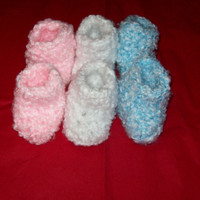 Baby Bootie Socks Your Choice Of Pink, White, Blue